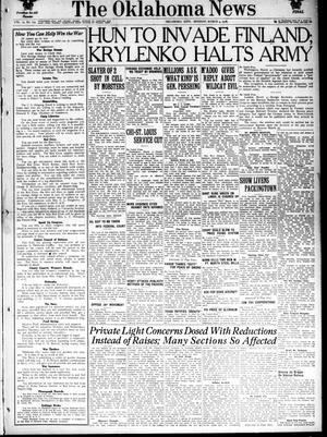 Primary view of object titled 'The Oklahoma News (Oklahoma City, Okla.), Vol. 12, No. 134, Ed. 1 Monday, March 4, 1918'.