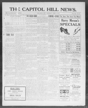 Primary view of object titled 'The Capitol Hill News. (Oklahoma City, Okla.), Vol. 8, No. 29, Ed. 1 Thursday, April 3, 1913'.