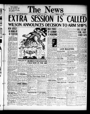 Primary view of object titled 'The Oklahoma News (Oklahoma City, Okla.), Vol. 11, No. 139, Ed. 1 Friday, March 9, 1917'.
