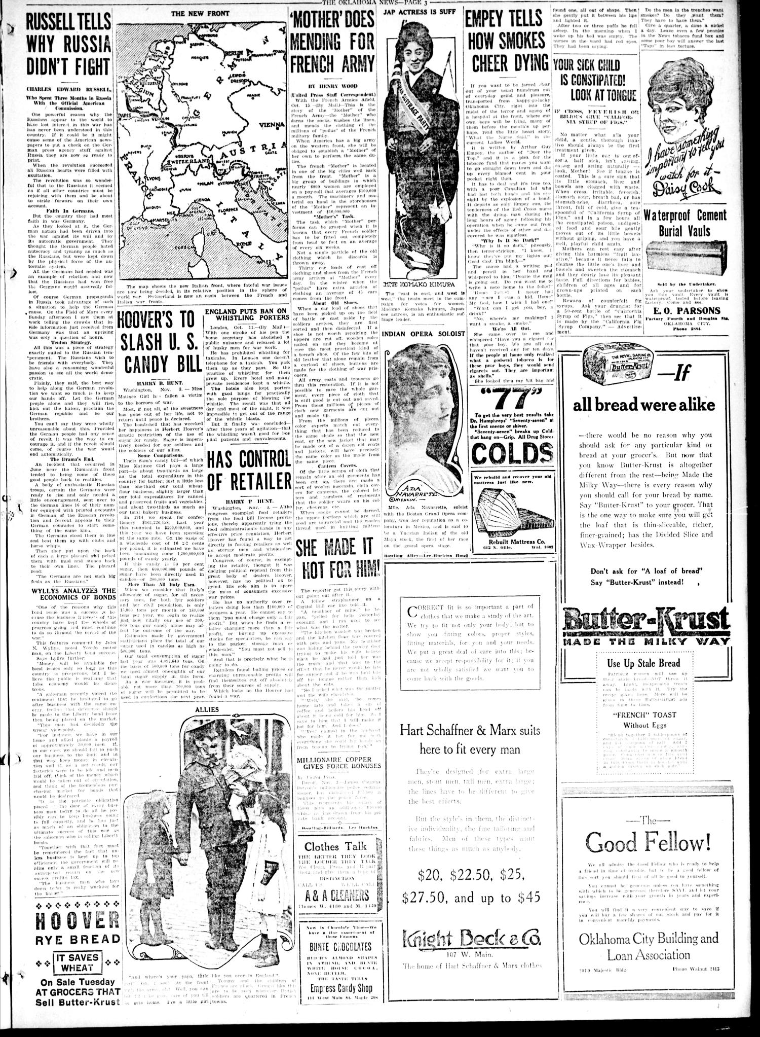 The Oklahoma News (Oklahoma City, Okla.), Vol. 12, No. 30, Ed. 1 Saturday, November 3, 1917                                                                                                      [Sequence #]: 3 of 8