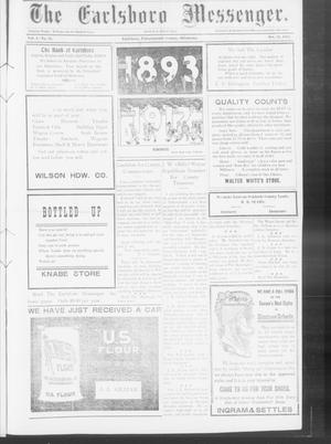 Primary view of object titled 'The Earlsboro Messenger. (Earlsboro, Okla.), Vol. 1, No. 24, Ed. 1 Thursday, October 31, 1912'.