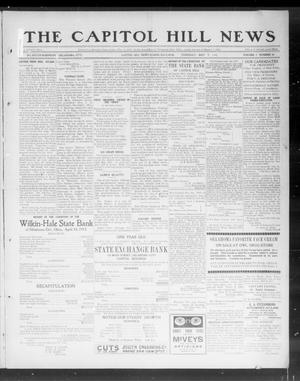 Primary view of object titled 'The Capitol Hill News (Capitol Hill, Okla.), Vol. 7, No. 34, Ed. 1 Thursday, May 9, 1912'.