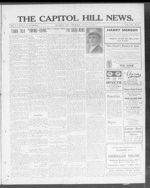 Primary view of object titled 'The Capitol Hill News. (Oklahoma City, Okla.), Vol. 8, No. 47, Ed. 1 Thursday, August 7, 1913'.