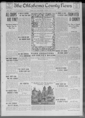 Primary view of object titled 'The Oklahoma County News (Jones City, Okla.), Vol. 15, No. 11, Ed. 1 Friday, July 16, 1915'.