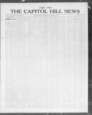Primary view of object titled 'The Capitol Hill News (Oklahoma City, Okla.), Vol. 9, No. 6, Ed. 2 Thursday, October 23, 1913'.