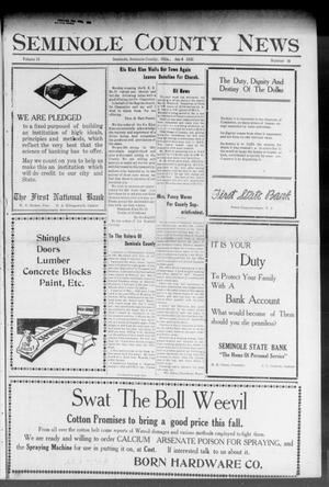 Primary view of object titled 'Seminole County News (Seminole, Okla.), Vol. 16, No. 16, Ed. 1 Thursday, July 6, 1922'.