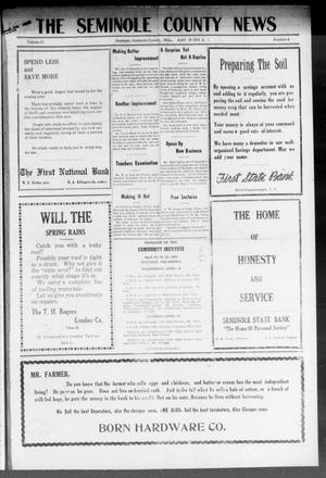Primary view of object titled 'The Seminole County News (Seminole, Okla.), Vol. 17, No. 5, Ed. 1 Thursday, April 19, 1923'.