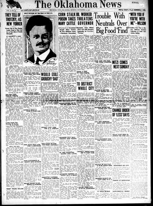 Primary view of object titled 'The Oklahoma News (Oklahoma City, Okla.), Vol. 12, No. 37, Ed. 1 Monday, November 12, 1917'.