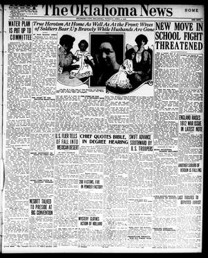 Primary view of object titled 'The Oklahoma News (Oklahoma City, Okla.), Vol. 10, No. 159, Ed. 1 Tuesday, April 4, 1916'.