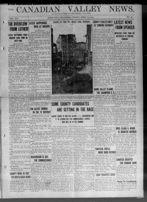 Primary view of object titled 'The Canadian Valley News. (Jones City, Okla.), Vol. 13, No. 48, Ed. 1 Friday, April 10, 1914'.