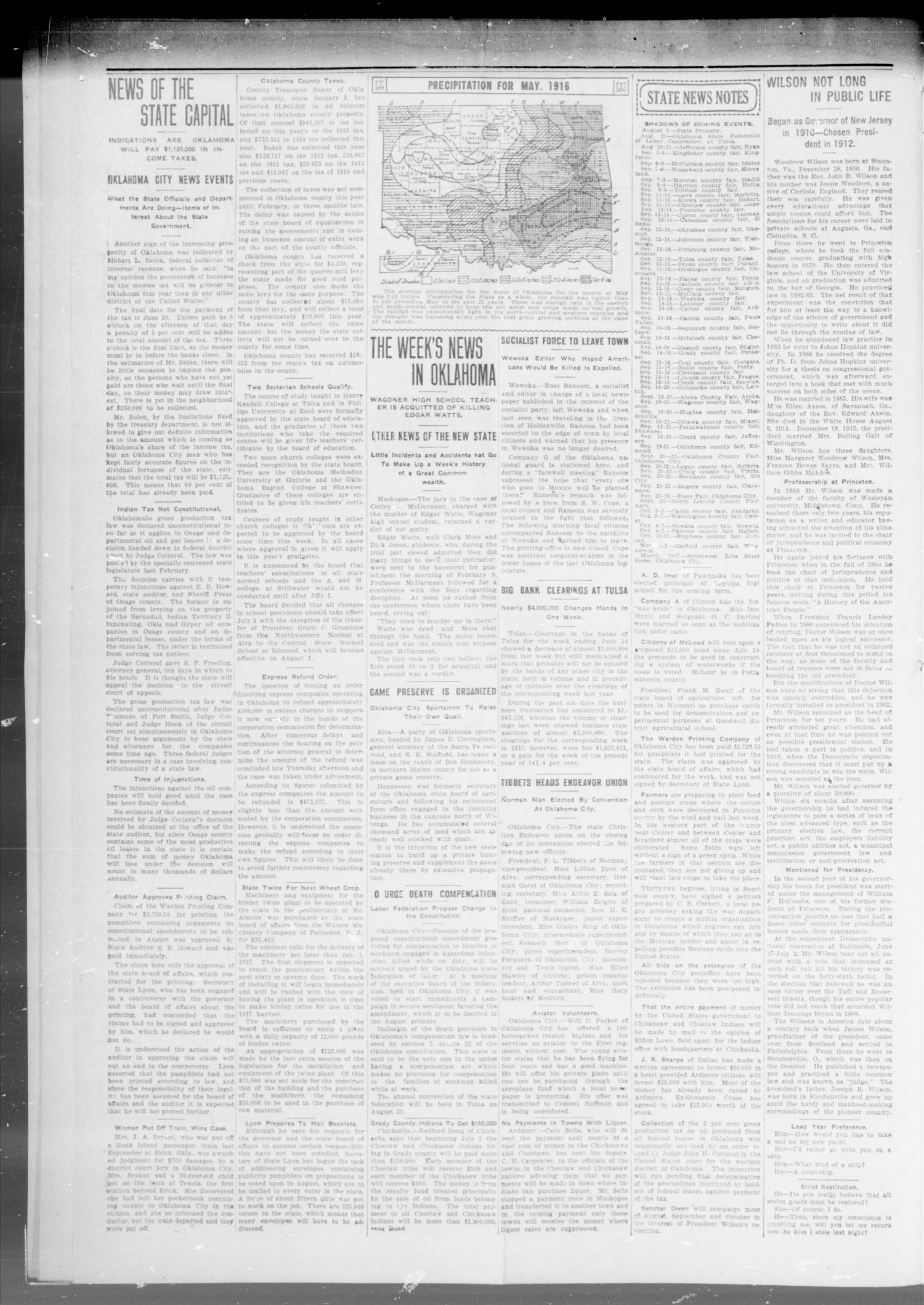The Capitol Hill News (Oklahoma City, Okla.), Vol. 1, No. 23, Ed. 1 Saturday, June 24, 1916                                                                                                      [Sequence #]: 2 of 8