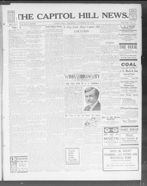 Primary view of object titled 'The Capitol Hill News. (Capitol Hill, Okla.), Vol. 8, No. 11, Ed. 1 Thursday, November 28, 1912'.