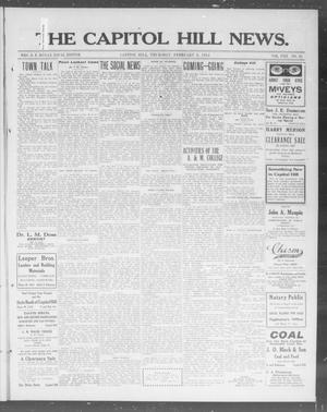 Primary view of object titled 'The Capitol Hill News. (Capitol Hill, Okla.), Vol. 8, No. 21, Ed. 1 Thursday, February 6, 1913'.
