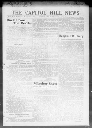Primary view of object titled 'The Capitol Hill News (Oklahoma City, Okla.), Vol. 1, No. 24, Ed. 1 Saturday, March 10, 1917'.