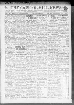 Primary view of object titled 'The Capitol Hill News (Oklahoma City, Okla.), Vol. 15, No. 4, Ed. 1 Friday, November 2, 1917'.