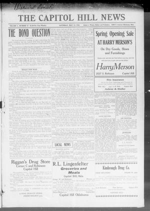 Primary view of object titled 'The Capitol Hill News (Oklahoma City, Okla.), Vol. 1, No. 17, Ed. 1 Saturday, May 13, 1916'.
