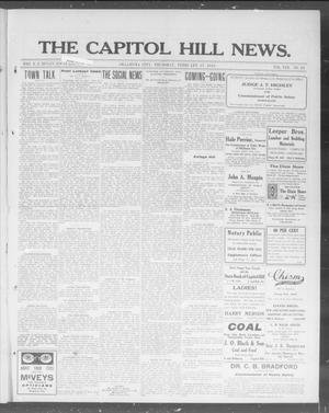 Primary view of object titled 'The Capitol Hill News. (Oklahoma City, Okla.), Vol. 8, No. 24, Ed. 1 Thursday, February 27, 1913'.