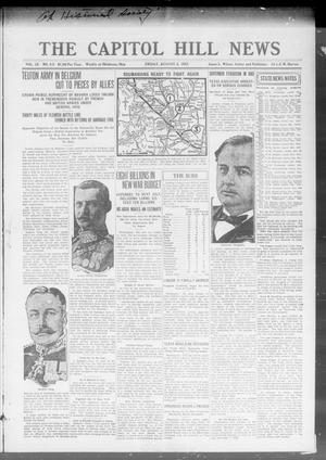 Primary view of object titled 'The Capitol Hill News (Oklahoma City, Okla.), Vol. 12, No. 45, Ed. 1 Friday, August 3, 1917'.