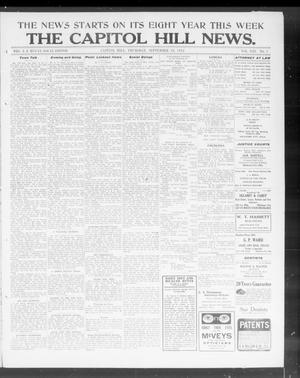 Primary view of object titled 'The Capitol Hill News. (Capitol Hill, Okla.), Vol. 8, No. 1, Ed. 1 Thursday, September 19, 1912'.