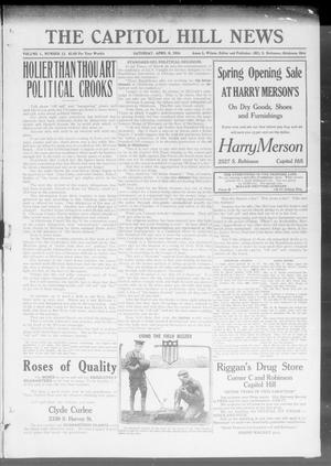Primary view of object titled 'The Capitol Hill News (Oklahoma City, Okla.), Vol. 1, No. 12, Ed. 1 Saturday, April 8, 1916'.