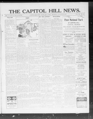 Primary view of object titled 'The Capitol Hill News. (Capitol Hill, Okla.), Vol. 7, No. 50, Ed. 1 Thursday, August 29, 1912'.