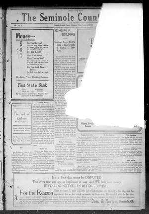 Primary view of object titled 'The Seminole County News (Seminole, Okla.), Vol. 4, No. 1, Ed. 1 Friday, February 25, 1910'.