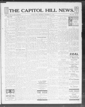 Primary view of object titled 'The Capitol Hill News. (Capitol Hill, Okla.), Vol. 8, No. 10, Ed. 1 Thursday, November 21, 1912'.
