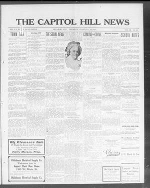 Primary view of object titled 'The Capitol Hill News (Oklahoma City, Okla.), Vol. 9, No. 23, Ed. 1 Thursday, February 19, 1914'.