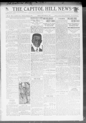 Primary view of object titled 'The Capitol Hill News (Oklahoma City, Okla.), Vol. 15, No. 6, Ed. 1 Friday, November 16, 1917'.