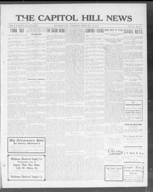 Primary view of object titled 'The Capitol Hill News (Oklahoma City, Okla.), Vol. 9, No. 22, Ed. 1 Thursday, February 12, 1914'.
