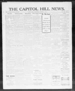 Primary view of object titled 'The Capitol Hill News. (Capitol Hill, Okla.), Vol. 8, No. 3, Ed. 1 Thursday, October 3, 1912'.