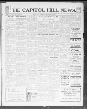 Primary view of object titled 'The Capitol Hill News. (Capitol Hill, Okla.), Vol. 8, No. 12, Ed. 1 Thursday, December 5, 1912'.