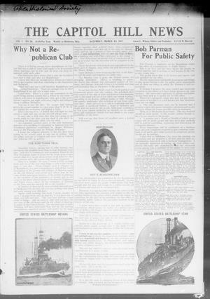 Primary view of object titled 'The Capitol Hill News (Oklahoma City, Okla.), Vol. 1, No. 26, Ed. 1 Saturday, March 24, 1917'.