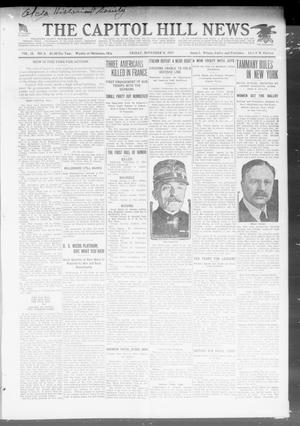 Primary view of object titled 'The Capitol Hill News (Oklahoma City, Okla.), Vol. 15, No. 5, Ed. 1 Friday, November 9, 1917'.