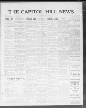 Primary view of object titled 'The Capitol Hill News (Oklahoma City, Okla.), Vol. 9, No. 19, Ed. 1 Thursday, January 22, 1914'.