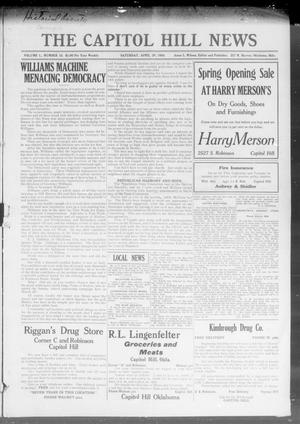Primary view of object titled 'The Capitol Hill News (Oklahoma City, Okla.), Vol. 1, No. 15, Ed. 1 Saturday, April 29, 1916'.