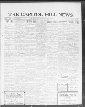 Primary view of object titled 'The Capitol Hill News (Oklahoma City, Okla.), Vol. 9, No. 27, Ed. 1 Thursday, March 19, 1914'.