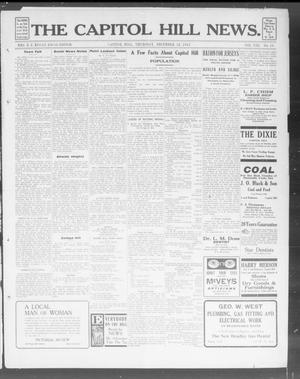 Primary view of object titled 'The Capitol Hill News. (Capitol Hill, Okla.), Vol. 8, No. 13, Ed. 1 Thursday, December 12, 1912'.