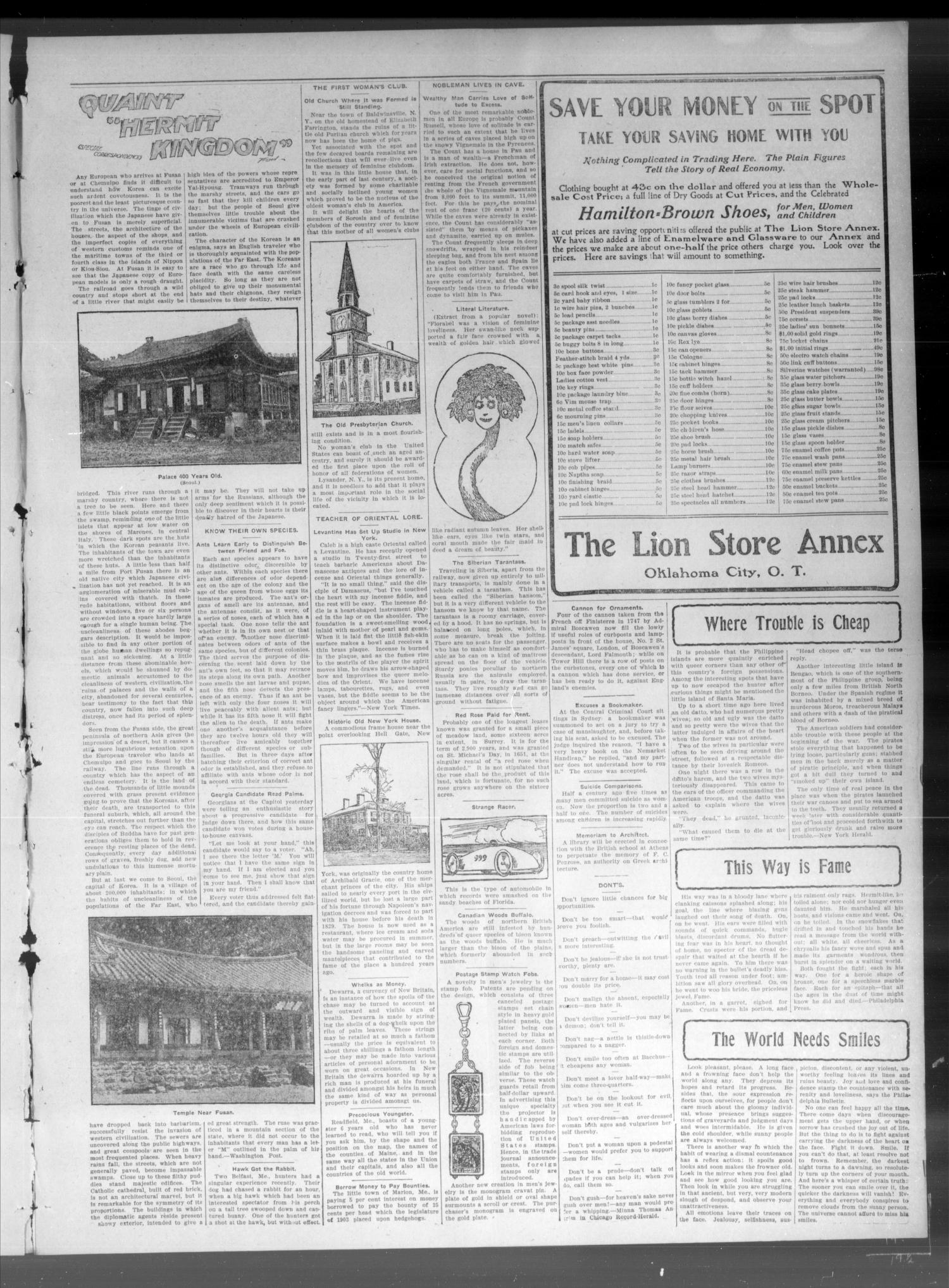 The Canadian Valley News. (Jones City, Okla.), Vol. 4, No. 2, Ed. 1 Friday, May 27, 1904                                                                                                      [Sequence #]: 3 of 8