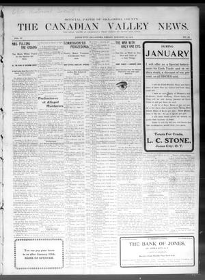 Primary view of object titled 'The Canadian Valley News. (Jones City, Okla.), Vol. 4, No. 36, Ed. 1 Friday, January 20, 1905'.