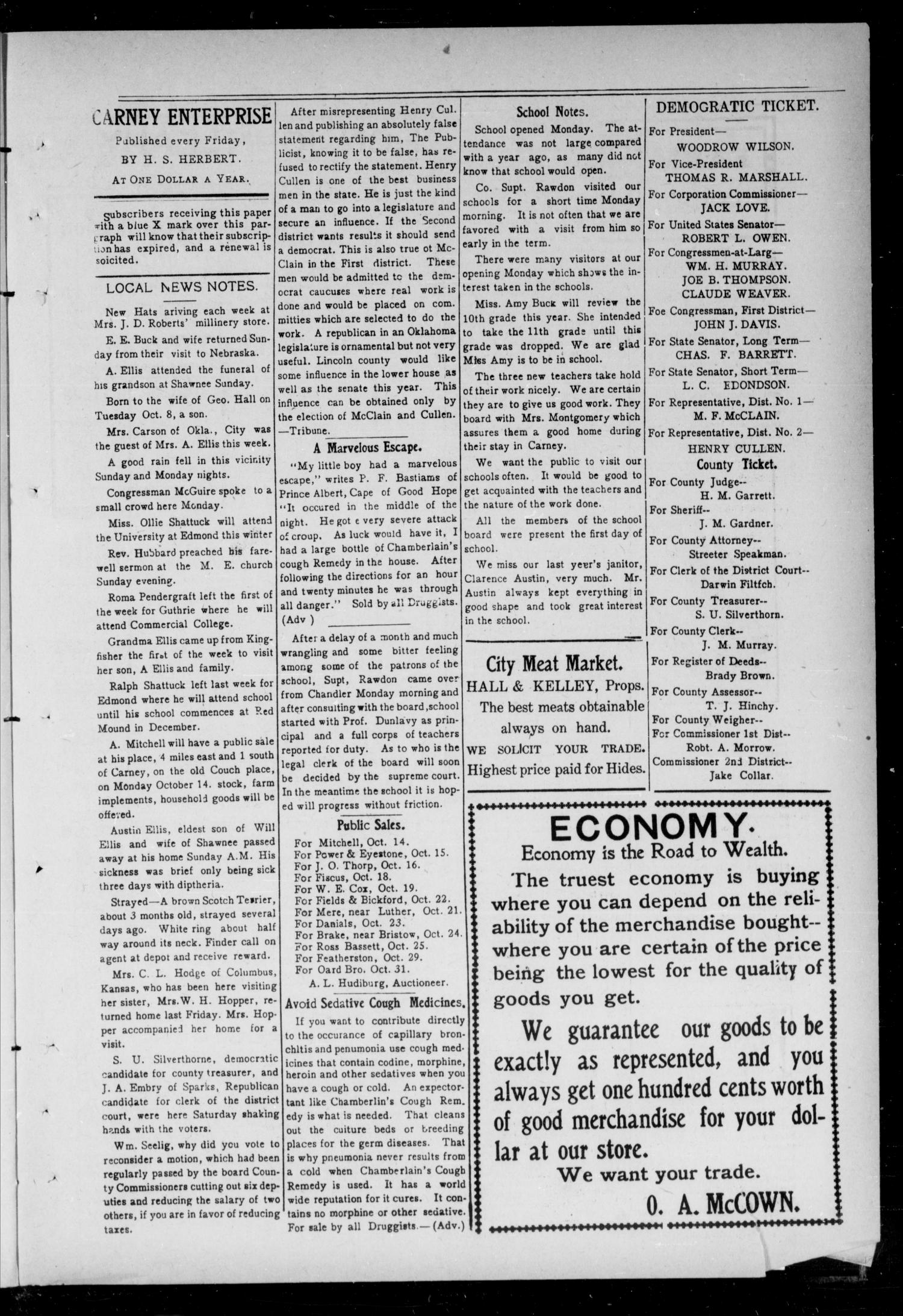Carney Enterprise. (Carney, Okla.), Vol. 11, No. 12, Ed. 1 Friday, October 11, 1912                                                                                                      [Sequence #]: 3 of 12