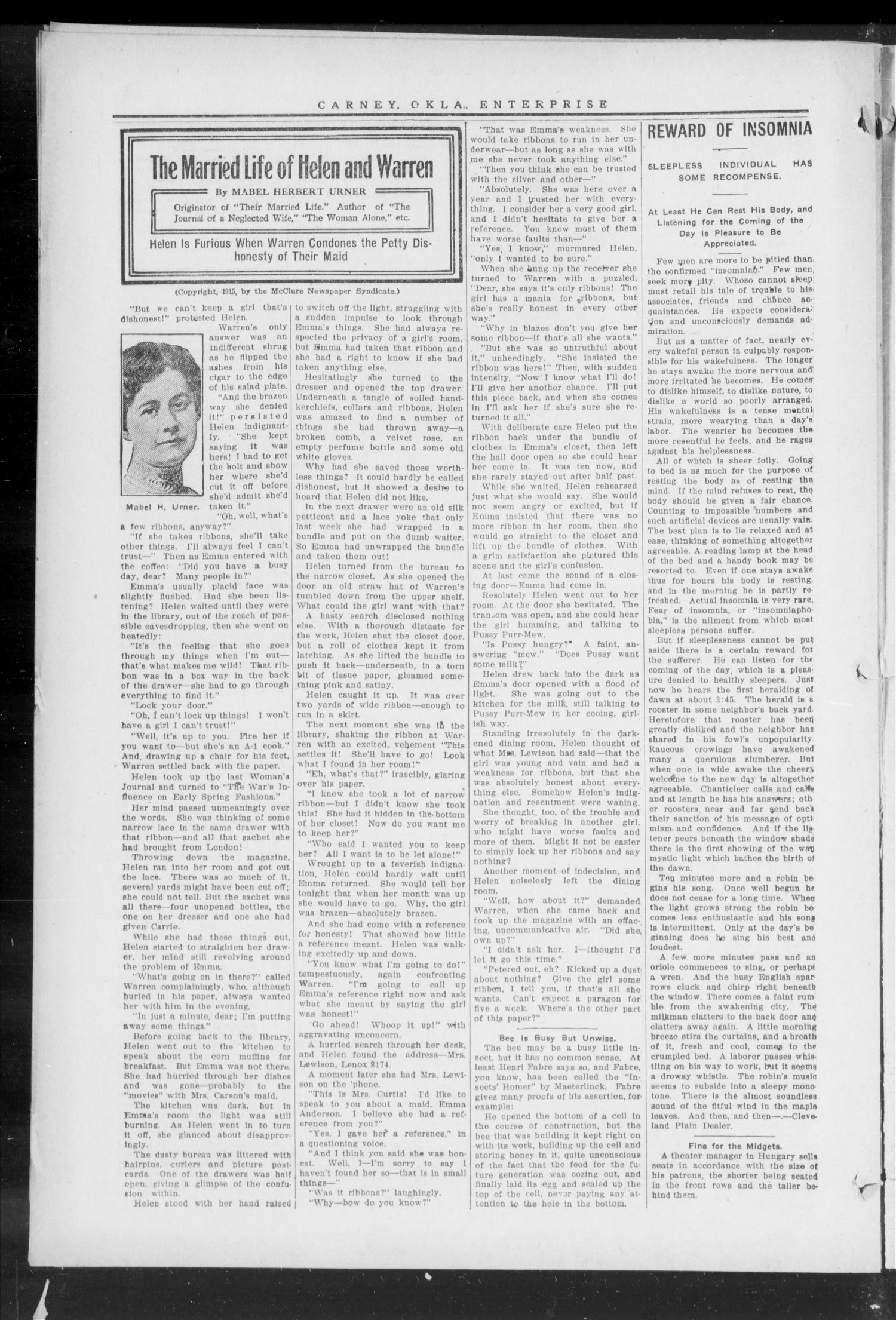 Carney Enterprise. (Carney, Okla.), Vol. 14, No. 50, Ed. 1 Friday, July 9, 1915                                                                                                      [Sequence #]: 10 of 12
