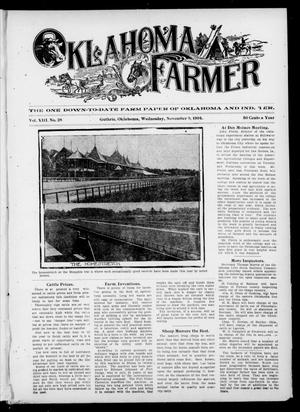 Primary view of object titled 'Oklahoma Farmer (Guthrie, Okla.), Vol. 13, No. 28, Ed. 1 Wednesday, November 9, 1904'.