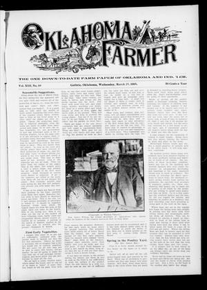 Primary view of object titled 'Oklahoma Farmer (Guthrie, Okla.), Vol. 13, No. 48, Ed. 1 Wednesday, March 29, 1905'.
