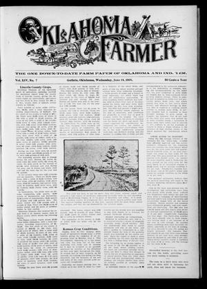 Primary view of object titled 'Oklahoma Farmer (Guthrie, Okla.), Vol. 14, No. 7, Ed. 1 Wednesday, June 14, 1905'.