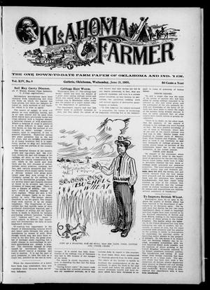 Primary view of object titled 'Oklahoma Farmer (Guthrie, Okla.), Vol. 14, No. 8, Ed. 1 Wednesday, June 21, 1905'.