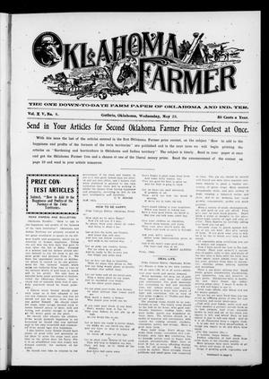Primary view of object titled 'Oklahoma Farmer (Guthrie, Okla.), Vol. 15, No. 4, Ed. 1 Wednesday, May 23, 1906'.