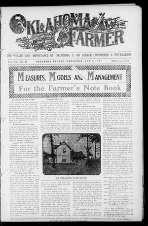Primary view of object titled 'Oklahoma Farmer (Guthrie, Okla.), Vol. 16, No. 24, Ed. 1 Wednesday, October 9, 1907'.
