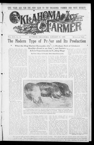 Primary view of object titled 'Oklahoma Farmer (Guthrie, Okla.), Vol. 17, No. 35, Ed. 1 Wednesday, January 20, 1909'.