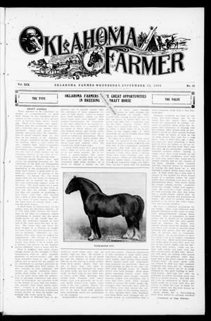 Primary view of object titled 'Oklahoma Farmer (Guthrie, Okla.), Vol. 18, No. 16, Ed. 1 Wednesday, September 15, 1909'.